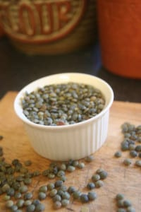 Lentils are representative of tiny coins and are believed to represent wealth