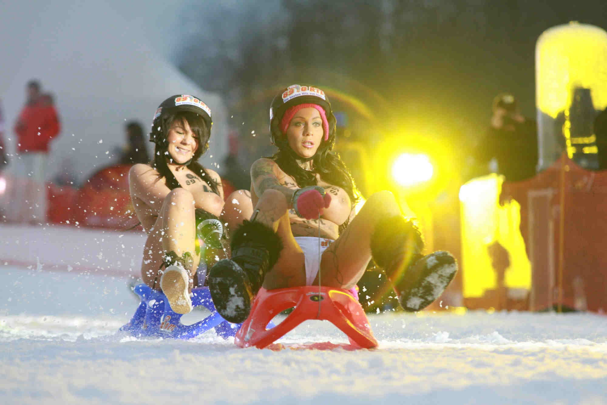 naked sledding in germany
