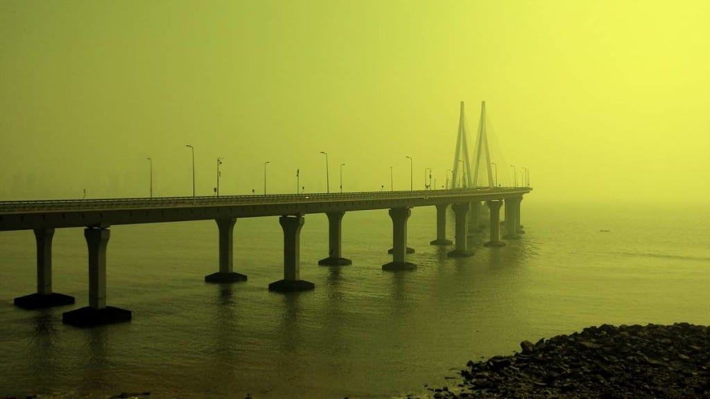 Worli-Bandra sea-link- View from Bandra fort remains. Photo courtesy: Aditya Chichkar