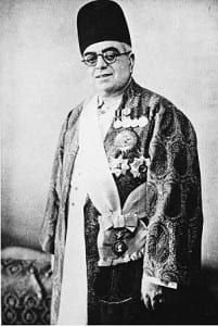 His Highness Sir Sultan Mohammed Aga Khan III, the 48th Imam of the Nizari Ismaili community who supported Dr. Haffkine and offered him his Khushru Palace at Mazgaon to set up a laboratory.