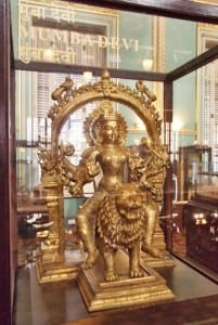 BDL Museum exhibits: Broze statue of Mumba Devi, from whose name the city of Mumbai derives its name. Photo courtesy: Aditya Chichkar