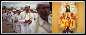 Work is Worship-The Warkaris and Vithoba, the deity worshipped by the Dabbawalas. Photo edited by Aditya Chichkar.