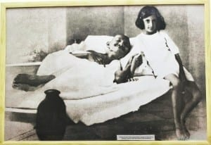 Gandhiji with little Indira Gandhi, who later become the First Women Prime Minister of India. Photo courtesy: Aditya Chichkar.