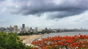 Cloudy Panoramic view of South Mumbai's coastline from top of Malabar Hill. Photo courtesy- Aditya Chichkar