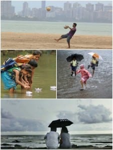 Deriving simple pleasures out of Mumbai's monsoon! Photo edit Aditya Chichkar. Photo source: Internet