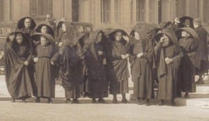 01 women wearing the traditional ghonella in Gozo circa 1950