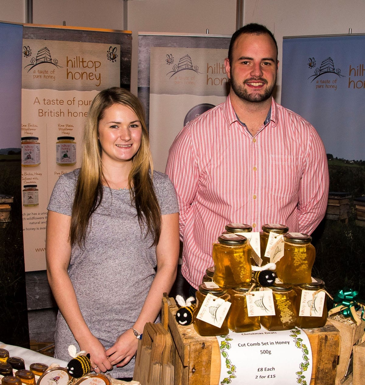 9.Scott Davies and Beth Lewis of Hilltop honey