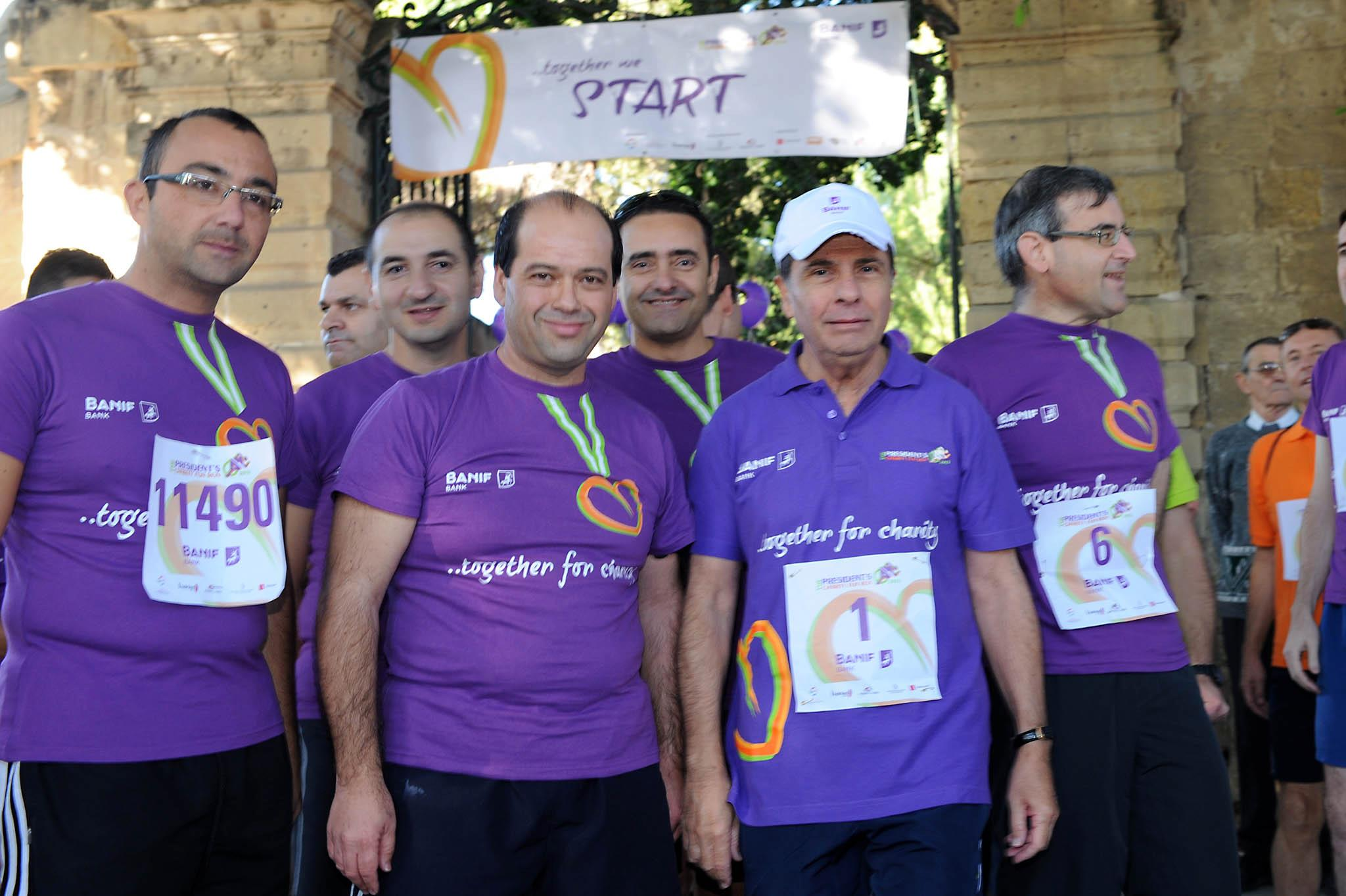 MalDia 09 (10-12-14) George Abela (second from right) the founder of the Run-Walk