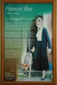Frances Hay founder of Dogs for the Disabled