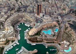 MalDia 04 (04-02-15) An aerial view of the New Malta Hilton and Portomaso Tower complex