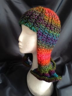 My knitting - Multi Coloured Wig Hat
