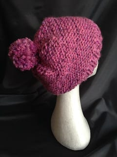 My knitting - Pink Bobble Hat