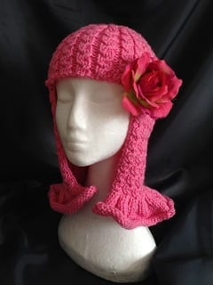 My knitting - Pink Wig Hat