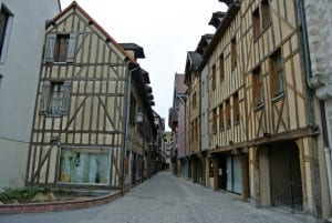 The ancient streets of Troyes are lovely to visit
