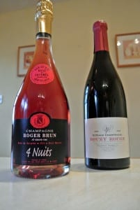 A fine 'pink' Champagne and a still red from the region