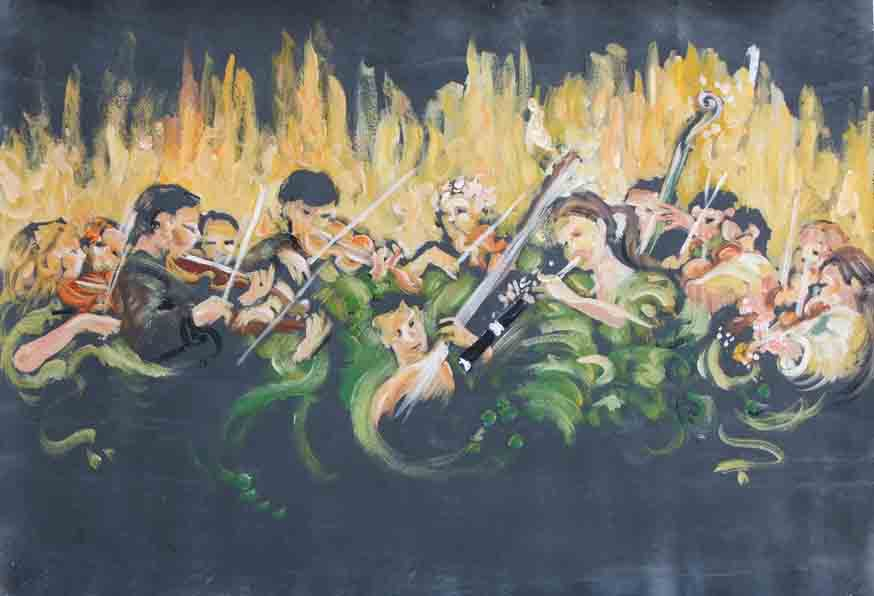 baroque orchestra painting - photo #15