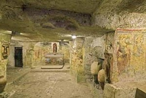 the Rabat catacombs area where Jewish graphics and burial places were found, traced back to 1050.