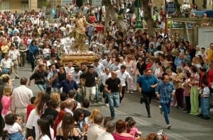 Easter Day resurrection procession - running with the Risen Christ to depict a resurgence to life and moivement  - a tradition in many parishes