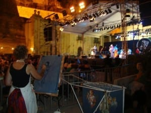 me painting at the Jazz fest