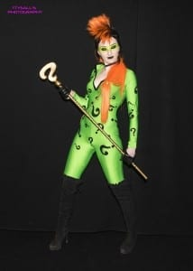 Claire Rainbow as a female Riddler