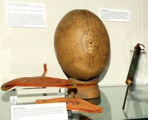 Early rugby ball equipment