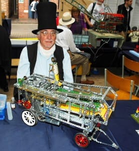 A keen member of the Telford and Ironbridge Meccano Society