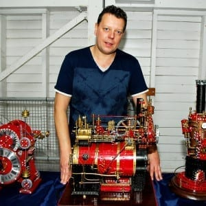 Dave Harvey with some of his intricate creations