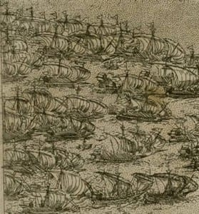 a vast Ottoman flotilla on the way to Malta