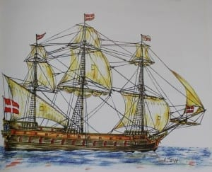This was one of the Knights' galleys named VAXXEL and dubbed as The Maltese Beast. It carried 56 broadside guns and was reputed never to have lost a battle.