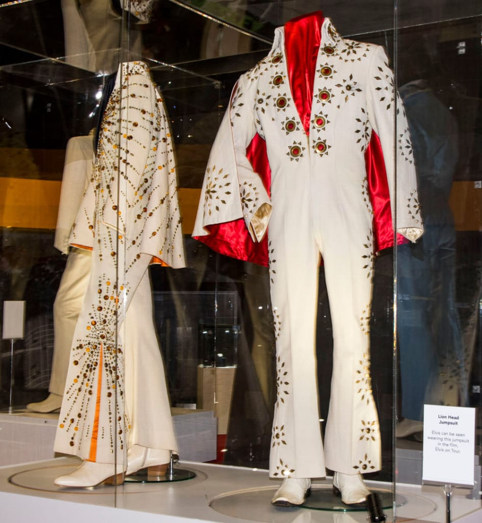 A couple of the jumpsuits on display
