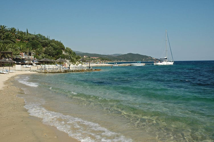 A sandy beach in Halkidiki