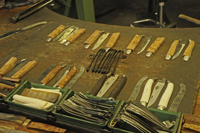 different elements of Laguiole knives
