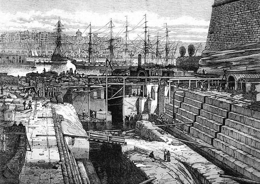 a new dock as depicted in the Illustrated London News in October 1867