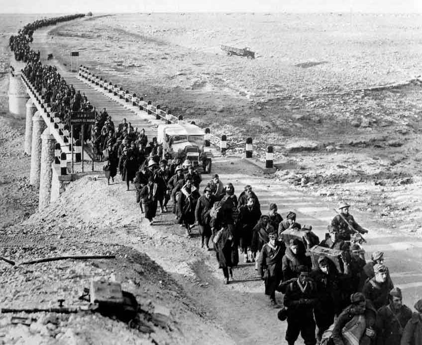 Italian prisoners-of-war at Tobruk - always longed to return to their small towns and villages.