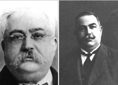 Famed politicians Fortonato (left) and Enrico Mizzi, related to my maternal grandfather.
