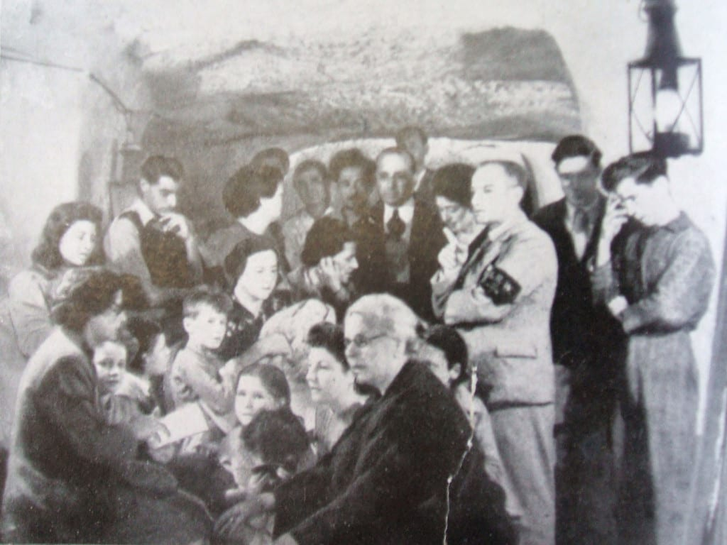 Life in an air-raid shelter in Malta during WWII.
