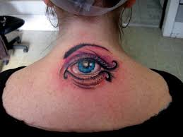 Evil eye tattoo