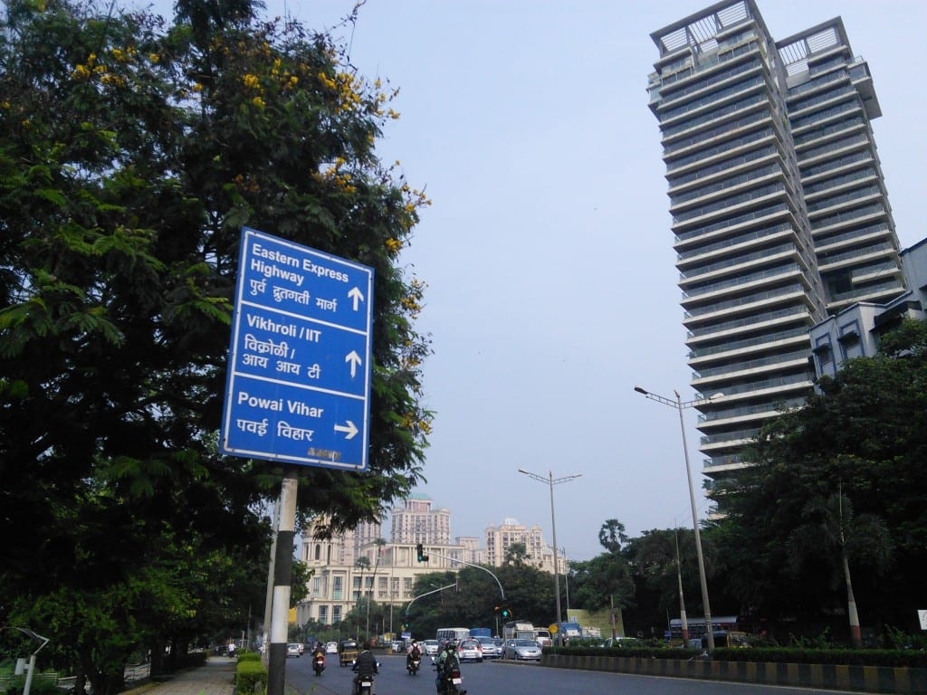 Downtown feel: Street indicators put on Powai highway