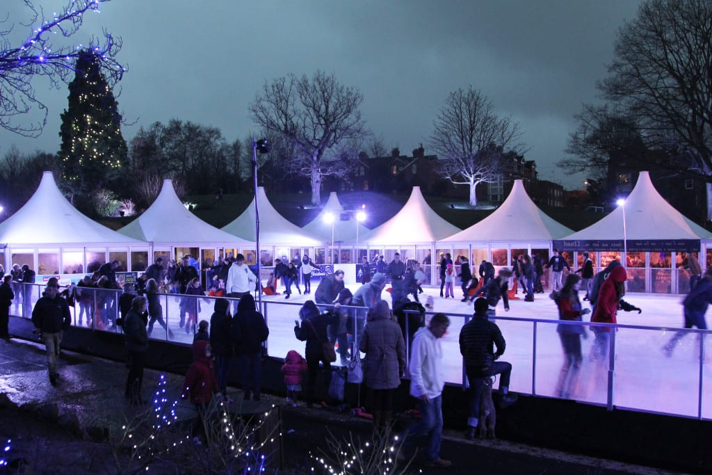 Skaters on the rink