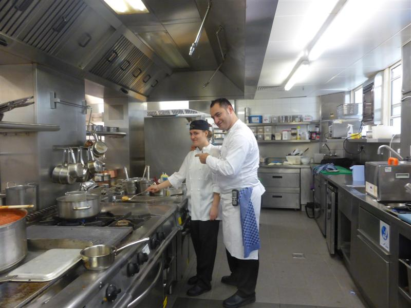 Andrea & a happy chef