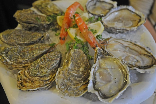 Oysters platter in Le Touquet