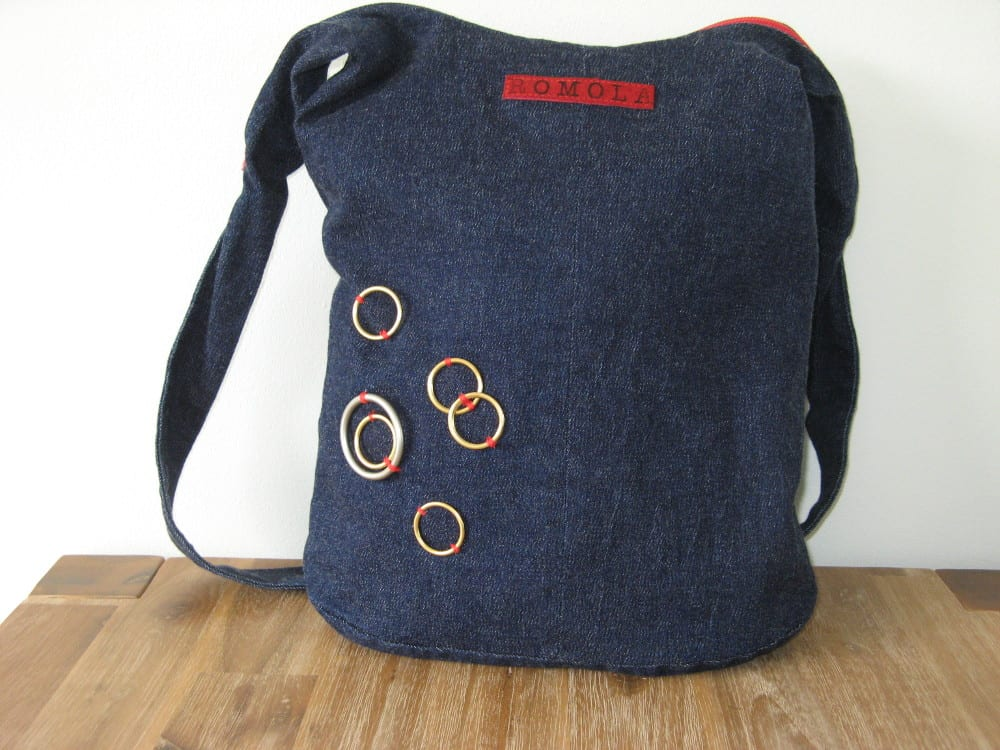 Blue Denim shoulder bag. Image by Georgina Brinciatti