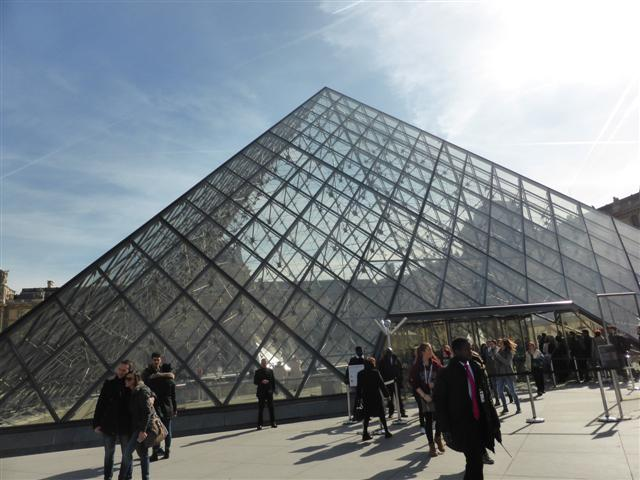 Glass pyramid at the Louvre