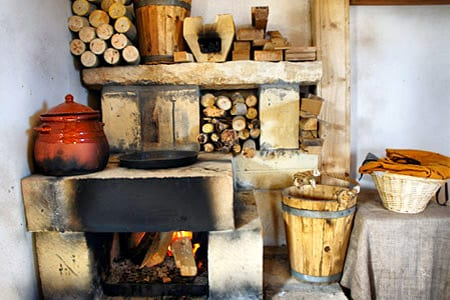 The Inn's well-stocked fuel supply and cooking stove