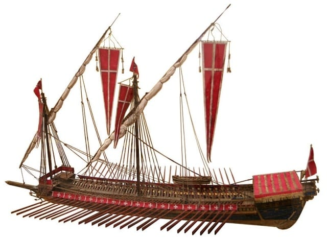 MalDia 07 (30-12-15) Model of a galley of the Knights of Malta