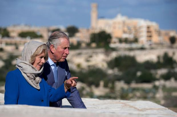 Prince Charles and the Duchess of Cornwall visit Malta's old capital city Mdina.