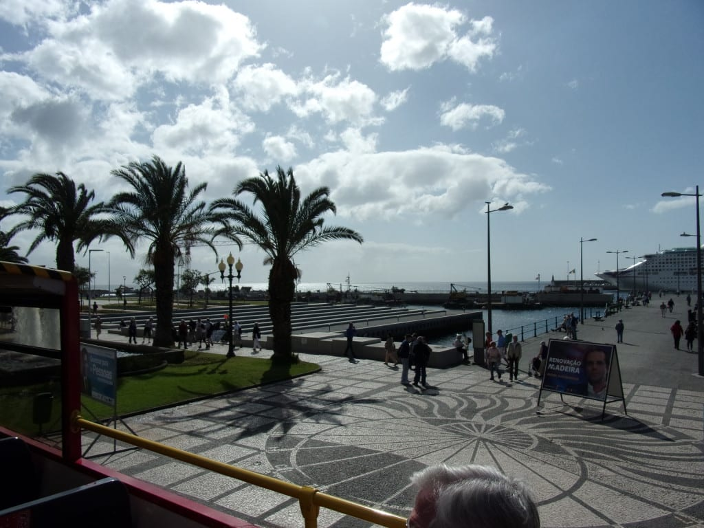 Funchal. Wide open spaces for pedestrians to promenade.