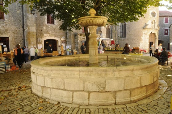 The round fountain at Ste Eulalie de Cernon