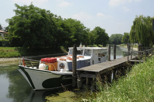 Excursion boat on river Brenta