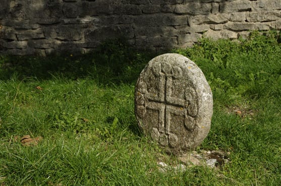 KnightTemplar tombstone at La Couvertoirade